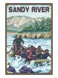 White Water Rafting, Sandy River, Oregon Posters by  Lantern Press
