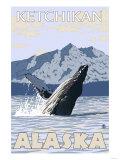 Humpback Whale, Ketchikan, Alaska Posters
