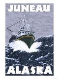 Fishing Boat Scene, Juneau, Alaska Posters