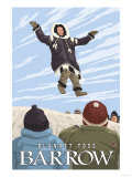 Alaska Blanket Toss, Barrow, Alaska Poster by  Lantern Press