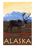 Caribou, Alaska Poster