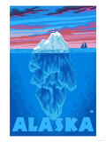 Iceberg, Alaska Print by  Lantern Press