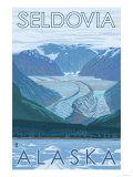 Glacier Scene, Seldovia, Alaska Posters