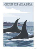 Orca Whales No.1, Gulf of Alaska Posters