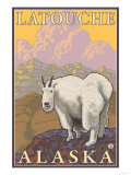 Mountain Goat, Latouche, Alaska Posters by  Lantern Press