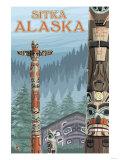 Alaska Totem Poles, Sitka, Alaska Posters