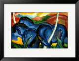 The Large Blue Horses, 1911 Posters by Franz Marc