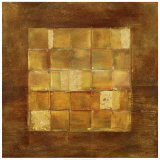 Gold Squares Prints by Viola Lee