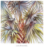 Blue Palm Prints by Lois Brezinski