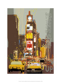 Times Square Print by Rod Neer