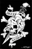 Death Or Glory Print by Ed Hardy