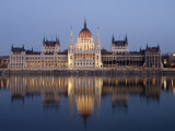 River Danube and Parliament Building, Budapest, Unesco World Heritage Site, Hungary, Europe Photographic Print by Christian Kober