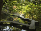 Pond and Walkway in Oyama Jinja Shrine, Kanazawa, Ishikawa Prefecture, Japan, Asia Photographic Print by Chris Kober