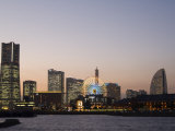 Landmark Tower and Big Wheel at Night, Minato Mirai, Yokohama, Japan, Asia Photographic Print by Chris Kober