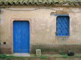 House with Blue Door and Window, Bagia, Sardinia, Italy, Mediterranean, Europe Photographic Print by Oliviero Olivieri