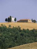 Vitaleta Chapel Near Pienza, Val d'Orcia, Siena Province, Tuscany, Italy Photographic Print by Sergio Pitamitz