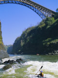 Kayaking on the Zambezi River, Batoka Gorge, Victoria Falls, Border of Zambia/Zimbabwe Photographic Print by Chris Kober