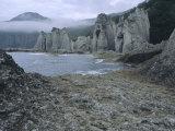 Hotokegaura Cliffs, Shimokita Peninsula, Aomori, Japan Photographic Print by Chris Kober