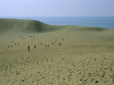 Tottori Sand Dunes and Sea, Tottori Prefecture, Japan Photographic Print by Chris Kober