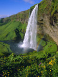 Seljalandsfoss Waterfall in the South of the Island, Iceland Photographic Print by Christian Kober