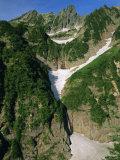 Glacier Waterfall on Mt. Tsurugi, Northern Alps, Japan Photographic Print by Chris Kober