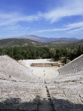 Ancient Greek Theatre, Epidaurus, Unesco World Heritage Site, Peloponnese, Greece, Europe Photographic Print by Oliviero Olivieri