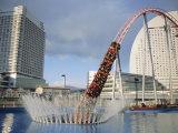 Funfair Rollercoaster, Minato Mirai, Yokohama, Japan Photographic Print by Chris Kober