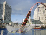 Funfair Rollercoaster, Minato Mirai, Yokohama, Japan Photographic Print by Christian Kober