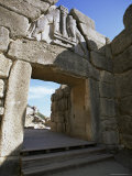 Lion Gate, Mycenae, Peloponnese, Greece, Europe Photographic Print by Oliviero Olivieri