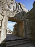 Lion Gate, Mycenae, Peloponnese, Greece, Europe Photographic Print by Oliviero Olivieri