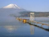 Mt. Fuji and Yamanaka Ko (Lake), Yamanashi, Japan Photographic Print by Chris Kober