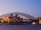 Opera House and Harbour Bridge, Sydney, New South Wales, Australia, Pacific Photographic Print by Sergio Pitamitz