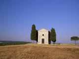 Vitaleta Christian Chapel Near Pienza, Val d'Orcia, Siena Province, Tuscany, Italy, Europe Photographic Print by Sergio Pitamitz