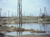 Oil Field, Baku, Azerbaijan, Central Asia, Asia Photographic Print by Oliviero Olivieri
