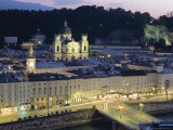 Twilight, Salzburg, Salzburgland, Austria, Europe Photographic Print by Chris Kober