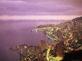 Evening View Over Monte Carlo, Monaco, Mediterranean, Europe Photographic Print by Sergio Pitamitz