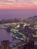 Evening View Over Monte Carlo, Monaco, Cote d'Azur, Mediterranean, Europe Photographic Print by Sergio Pitamitz