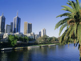 The Yarra River and City Buildings from Princes Bridge, Melbourne, Victoria, Australia Photographic Print by Richard Nebesky