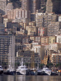 Boats on the Waterfront, Monte Carlo, Monaco, Cote d'Azur, Mediterranean, Europe Photographic Print by Sergio Pitamitz