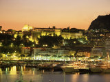 The Harbour and Prince's Palace at Sunset, Monte Carlo, Monaco, Cote d'Azur, Mediterranean, Europe Photographic Print by Sergio Pitamitz