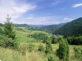 Valley Scenery Around Village of Biela, Mala Fatra Mountains, Slovakia, Europe Photographic Print by Richard Nebesky