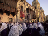 Crowds Celebrating Christian Festival of Easter Sunday, Lima, Peru, South America Photographic Print by Oliviero Olivieri