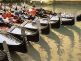 A Line of Gondolas, Venice, Veneto, Italy, Europe Photographic Print by Sergio Pitamitz