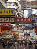 Fa Yuen Street, Mong Kok District, Kowloon, Hong Kong, China, Asia Photographic Print by Sergio Pitamitz