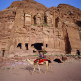 1st Century Ad Nabatean Corinthian Tomb, Wadi Musa, Petra, Jordan, Middle East Photographic Print by Christopher Rennie
