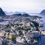 View Over Alesund, More Og Romsdal, Norway, Scandinavia, Europe Photographic Print by Geoff Renner