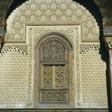 Inside Bou Inania Medrassa Courtyard, Fez, Morocco Photographic Print by Tony Gervis