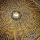 Ceiling, Interior of the Dome, St. Peter's Basilica, Rome, Lazio, Italy Photographic Print by Roy Rainford