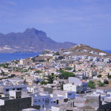 The Main Port of Mindelo on the Island of Sao Vicente, Cape Verde Islands Photographic Print by Geoff Renner