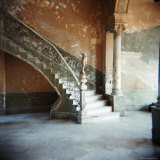 Ornate Marble Staircase in Apartment Building, Havana, Cuba, West Indies, Central America Photographic Print by Lee Frost